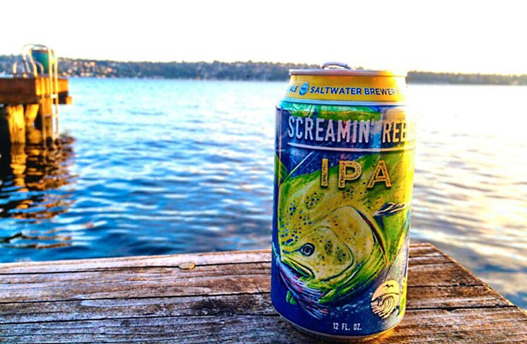 SaltWater IPA can