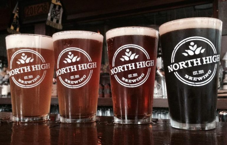 North High Brewing glasses