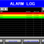 Alarm Log filler HMI screen