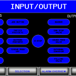 Input Output filler HMI screen