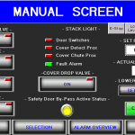 Manual filler HMI screen
