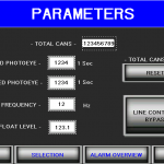 Parameters filler HMI screen