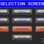 Selection filler HMI screen